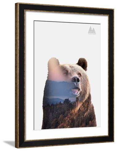 Bear-Clean Nature-Framed Art Print