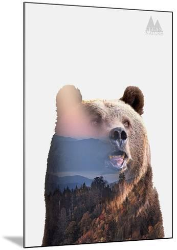 Bear-Clean Nature-Mounted Art Print