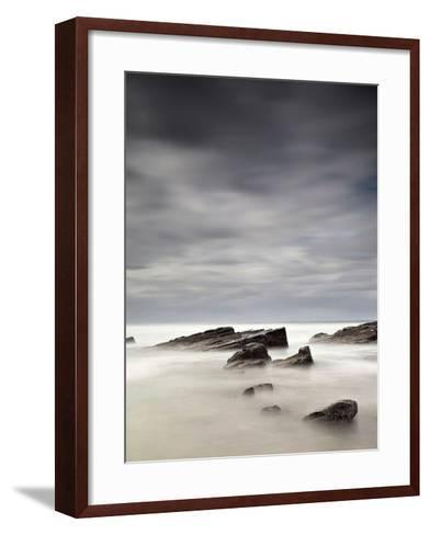 Rocks in Mist-PhotoINC Studio-Framed Art Print