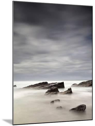 Rocks in Mist-PhotoINC Studio-Mounted Art Print