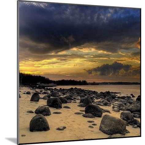 Rocks on Beach-PhotoINC Studio-Mounted Art Print