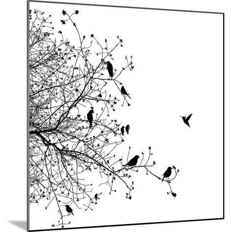 Bird I-GraphINC-Mounted Art Print