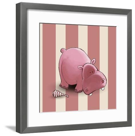Hippo-GraphINC-Framed Art Print