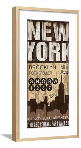 New York-Jennifer Pugh-Framed Art Print