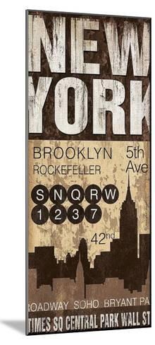New York-Jennifer Pugh-Mounted Art Print