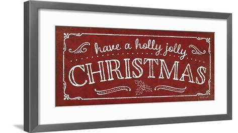 Holly Jolly Christmas-Jennifer Pugh-Framed Art Print