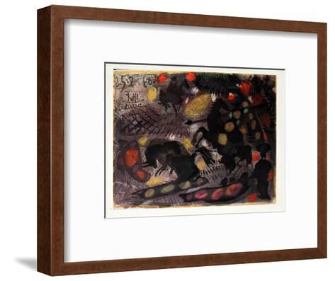 Corrida-Pablo Picasso-Framed Art Print
