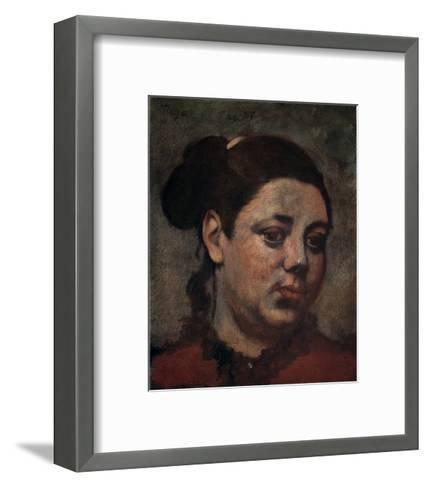 Portrait-Edgar Degas-Framed Art Print