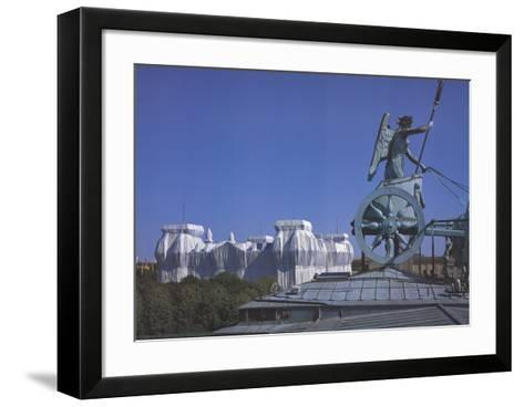Wrapped Reichstag Building-Javacheff Christo-Framed Art Print