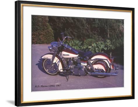 Harley Davidson Electra 1200c 1967-Forlag Hakan Eriksson-Framed Art Print