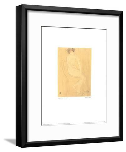 Naked Woman Sitting-Auguste Rodin-Framed Art Print