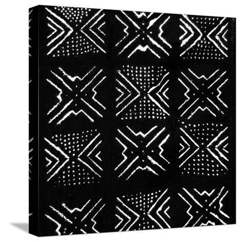 Mudcloth Black IV-Ellie Roberts-Stretched Canvas Print