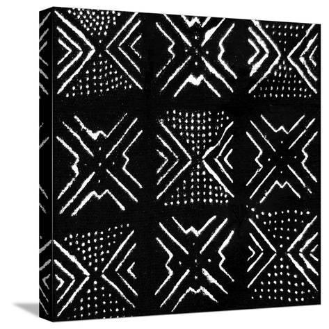 Mudcloth Black V-Ellie Roberts-Stretched Canvas Print