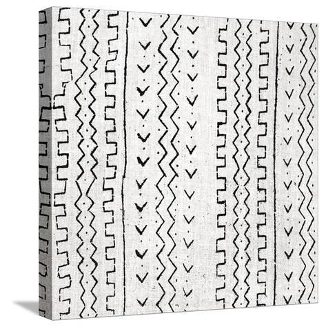Mudcloth White VI-Ellie Roberts-Stretched Canvas Print