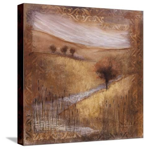 Waterside II-Rosemary Abrahams-Stretched Canvas Print