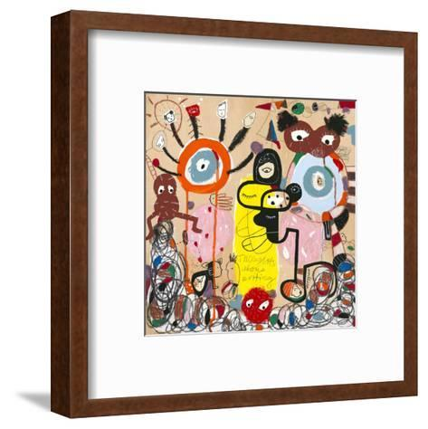 The Difficulty of Writing-Joi Murugavell-Framed Art Print