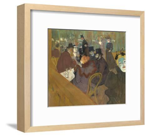 At the Moulin Rouge, 1892-95-Henri de Toulouse-Lautrec-Framed Art Print