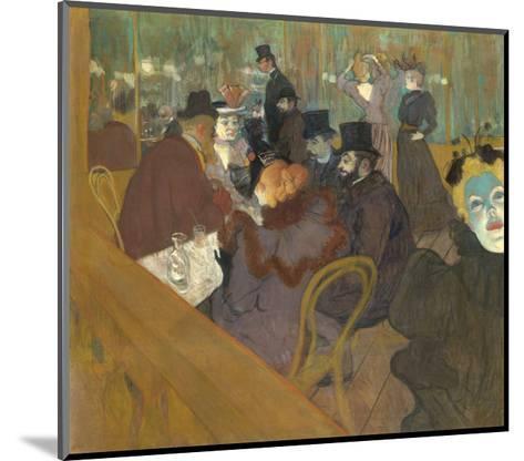 At the Moulin Rouge, 1892-95-Henri de Toulouse-Lautrec-Mounted Art Print