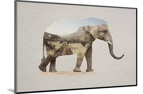 African Elephant Erongo Namibia-Color Me Happy-Mounted Art Print
