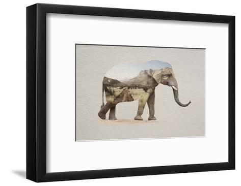 African Elephant Erongo Namibia-Color Me Happy-Framed Art Print