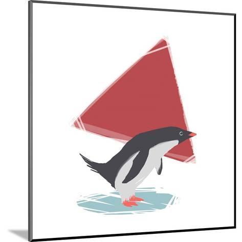 Minimalist Penguin, Boys Part III-Color Me Happy-Mounted Art Print