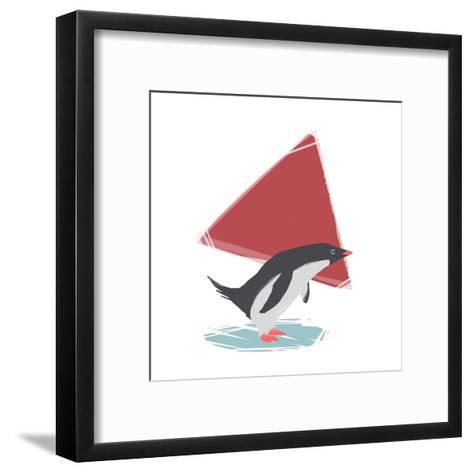 Minimalist Penguin, Boys Part III-Color Me Happy-Framed Art Print