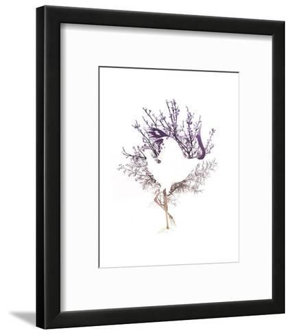 Red Crowned Crane Pair, Part II-Color Me Happy-Framed Art Print