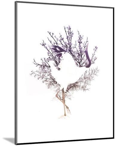 Red Crowned Crane Pair, Part II-Color Me Happy-Mounted Art Print