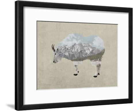 Rocky Mountain Goat-Color Me Happy-Framed Art Print