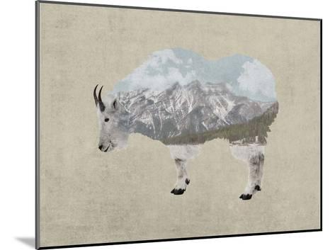 Rocky Mountain Goat-Color Me Happy-Mounted Art Print