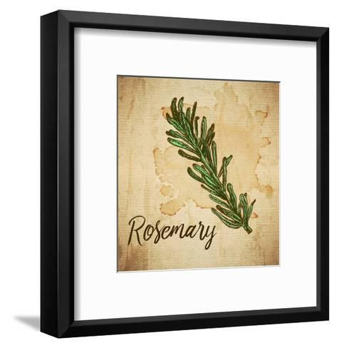 Rosemary on Burlap-Color Me Happy-Framed Art Print