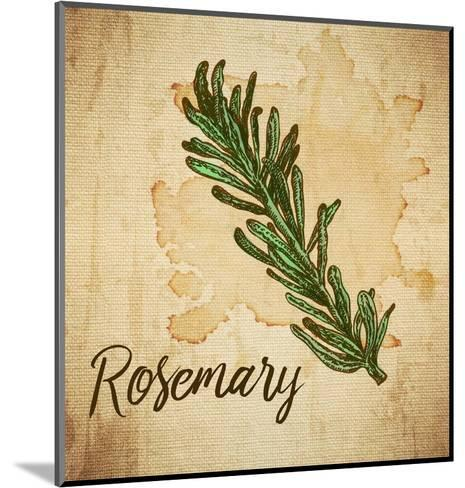 Rosemary on Burlap-Color Me Happy-Mounted Art Print