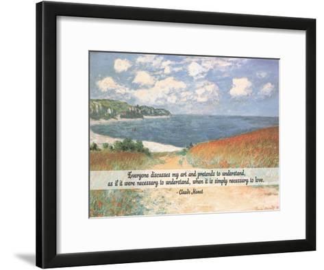 Monet Quote Chemin Dans Les Bles A Pourville-Quote Master-Framed Art Print