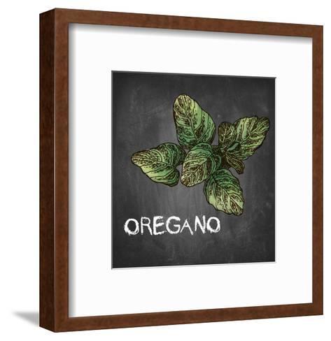 Oregano on Chalkboard-Color Me Happy-Framed Art Print