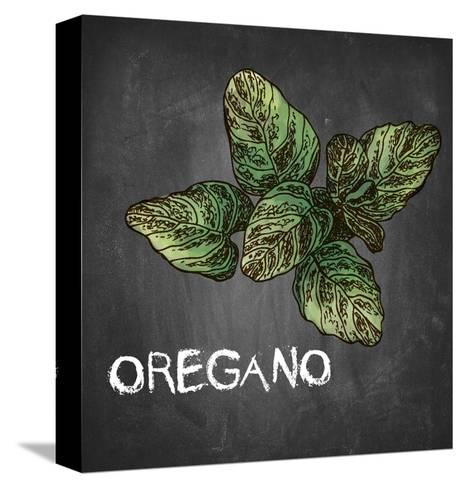 Oregano on Chalkboard-Color Me Happy-Stretched Canvas Print