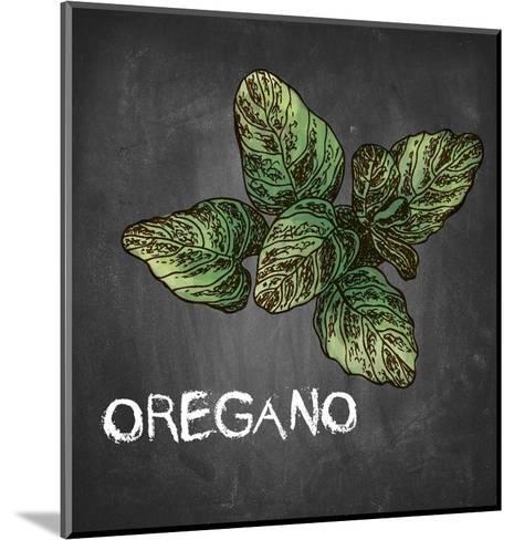 Oregano on Chalkboard-Color Me Happy-Mounted Art Print