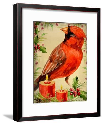 Christmas Cardinal-Kimberly Allen-Framed Art Print