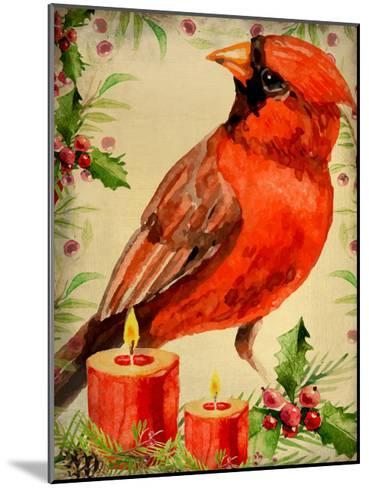 Christmas Cardinal-Kimberly Allen-Mounted Art Print
