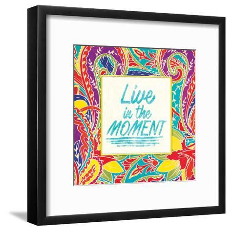Live In The Moment-Jace Grey-Framed Art Print