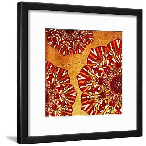 Fire Flowers-Jace Grey-Framed Art Print