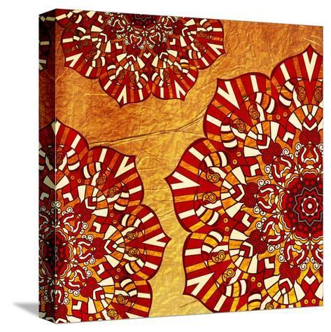 Fire Flowers-Jace Grey-Stretched Canvas Print