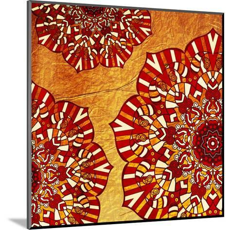 Fire Flowers-Jace Grey-Mounted Art Print