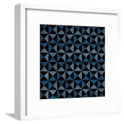 Bow Tie Blue-Jace Grey-Framed Art Print