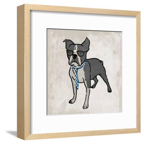 Nerdy Terrier 2-Marcus Prime-Framed Art Print