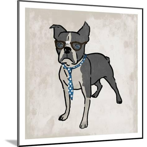 Nerdy Terrier 2-Marcus Prime-Mounted Art Print
