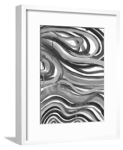 Charcoal Ripples 1-Smith Haynes-Framed Art Print
