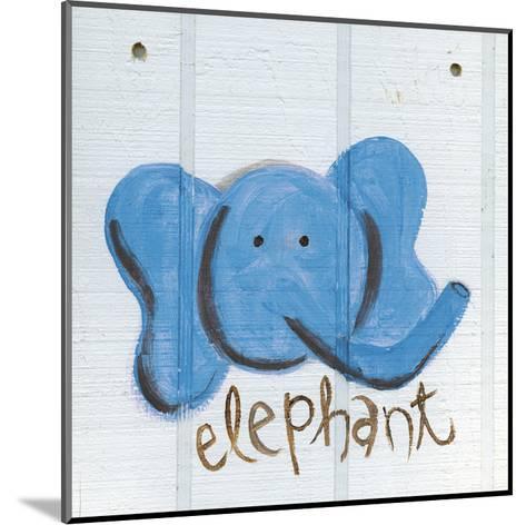 Happy Blue Elephant-Erin Butson-Mounted Art Print