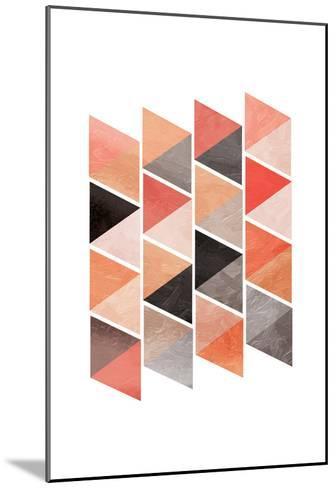 School Of Rose Triangles-OnRei-Mounted Art Print