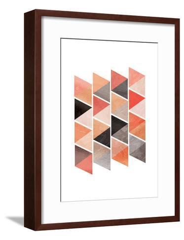 School Of Rose Triangles-OnRei-Framed Art Print