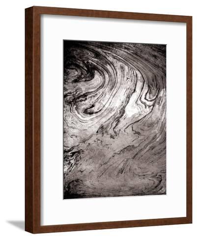 Grey Sea Marble-Jace Grey-Framed Art Print